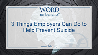 3 Things Employees Can Do to Help Prevent Suicide