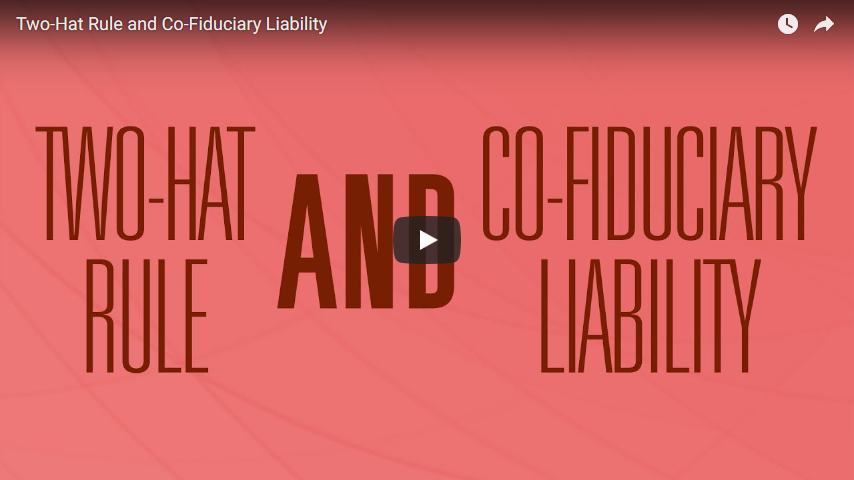 Two-Hat Rule and Co-Fiduciary Liability